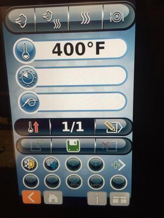 Introduzca la temperatura de precalentamiento deseada para el horno