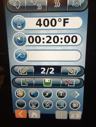 Introduzca un paso abrasador. 360-400F durante 20 minutos en la convección funciona muy bien.