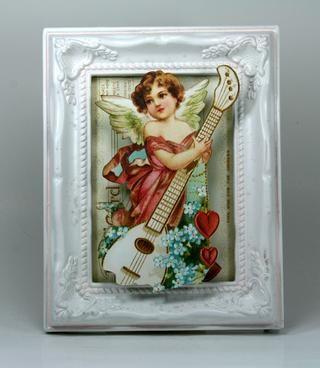 Añadir ángel del Gráfico 45 Sentimientos dulces ~ Sentimientos dulces al jardín central en muchas capas de espaciadores de espuma por lo que tendrá dimensión.