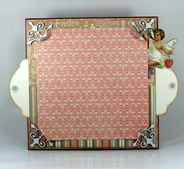Con tinta blanca borde otra capa de la Gráfica 45 ~ Corazón Song y esquinas rizo.
