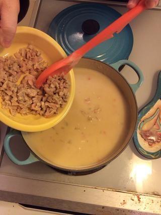 Romper y añadir esas almejas reservadas cerebro-en-un-bol. (Fotos de comida son tan desagradable a veces.)