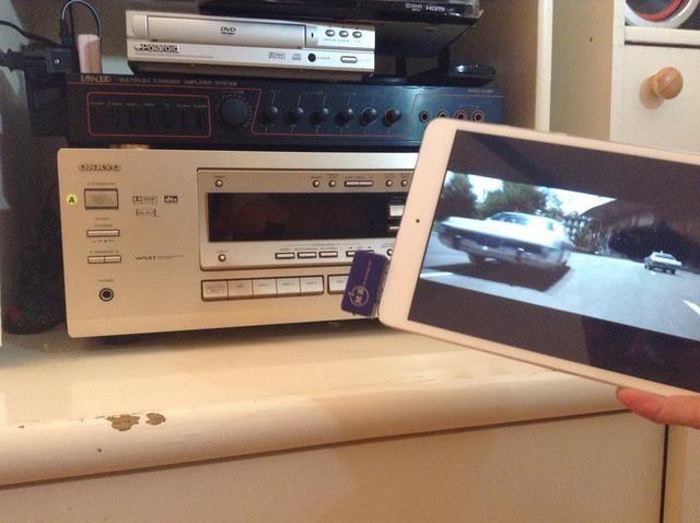 Ahora ha conectar correctamente su mini iPad a su receptor estéreo doméstico.