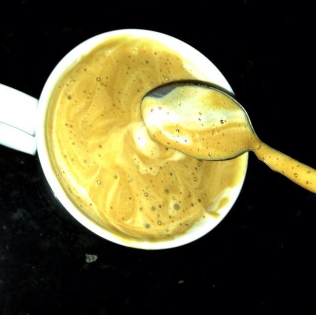 Y ahí lo tienen del mundo's richiest and creamiest cappuccino EVER!