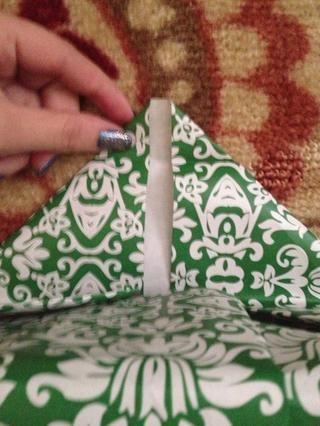 Usted debe obtener una forma de triángulo como éste