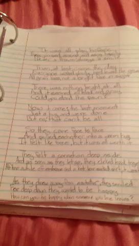 El poema ... me va a leer la última parte