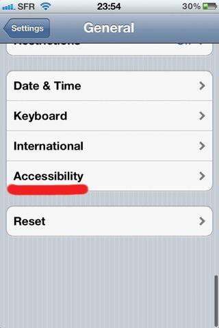 Pulse sobre la accesibilidad