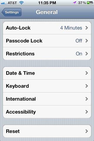 En la parte inferior de la Configuración general, seleccione Accesibilidad.