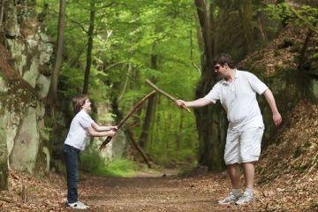 niño y el papá juego