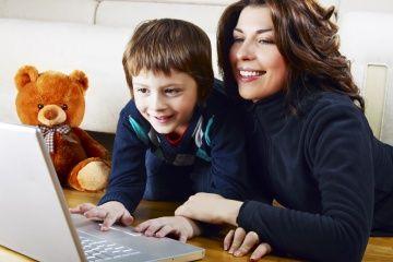 la mamá y el niño del blog