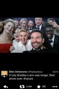 El tweet que se estrelló todo: Ellen's 2014 Oscar selfie.