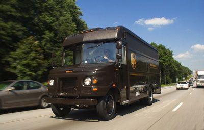 Un vehículo de entrega de UPS en Atlanta, GA