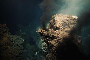 de altura del volcán de ventilación