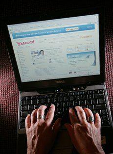 Yahoo electrónico página de inicio