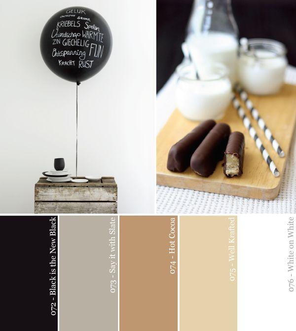 Blanco y negro y neutral por todas partes Partido Paleta de colores