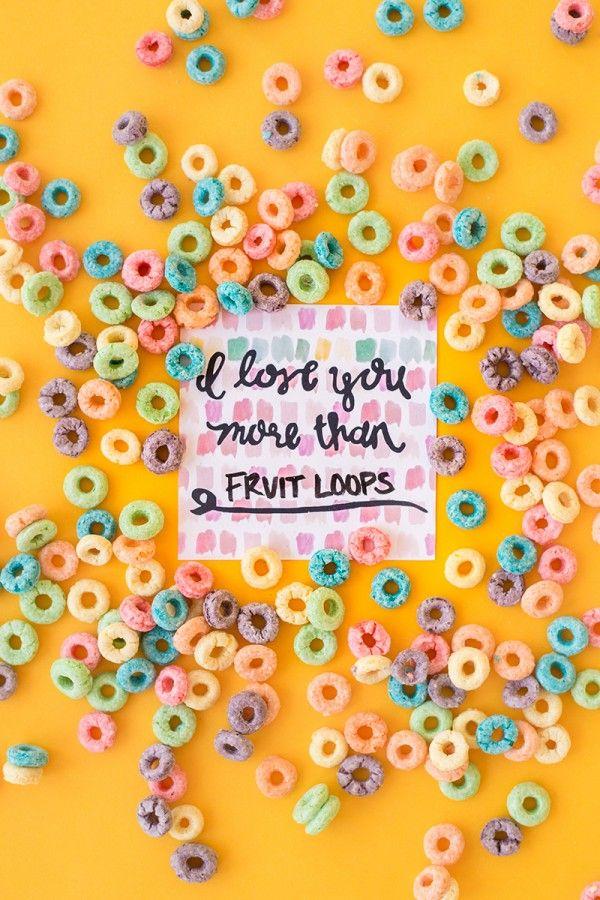 Te Quiero Más de Fruit Loops (gratuito para imprimir!)