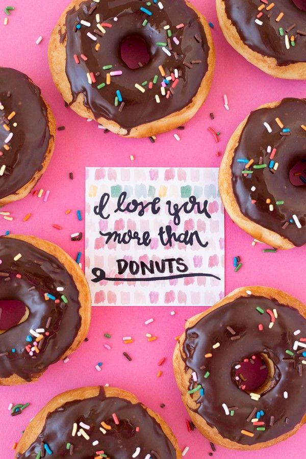 Te Quiero Más De Donuts (Libre para imprimir!)