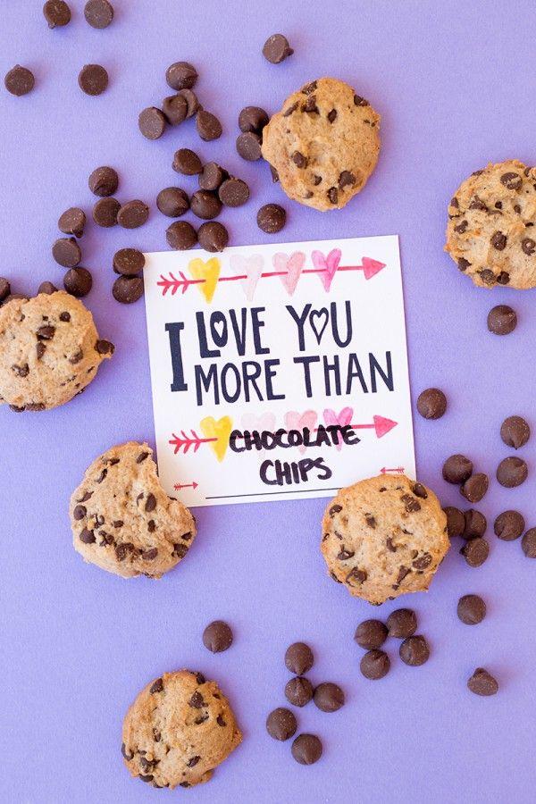Te Quiero Más De Chocolate Chips (imprimir gratis!)
