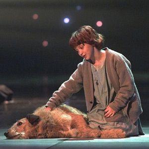 Annie y Sandy en el escenario de los premios Tony