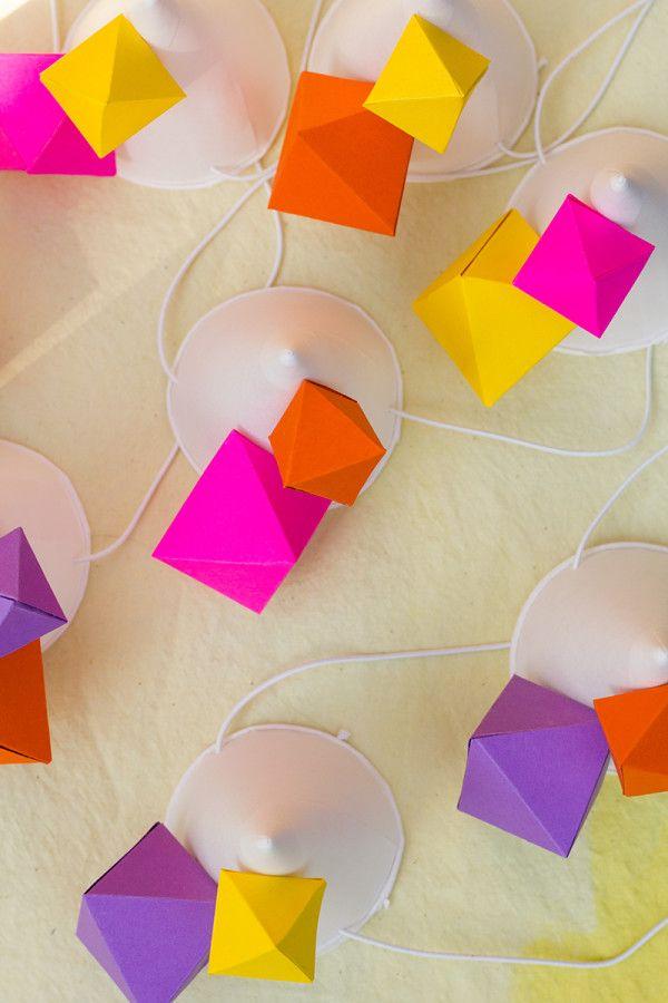 DIY Party geométrica Sombreros