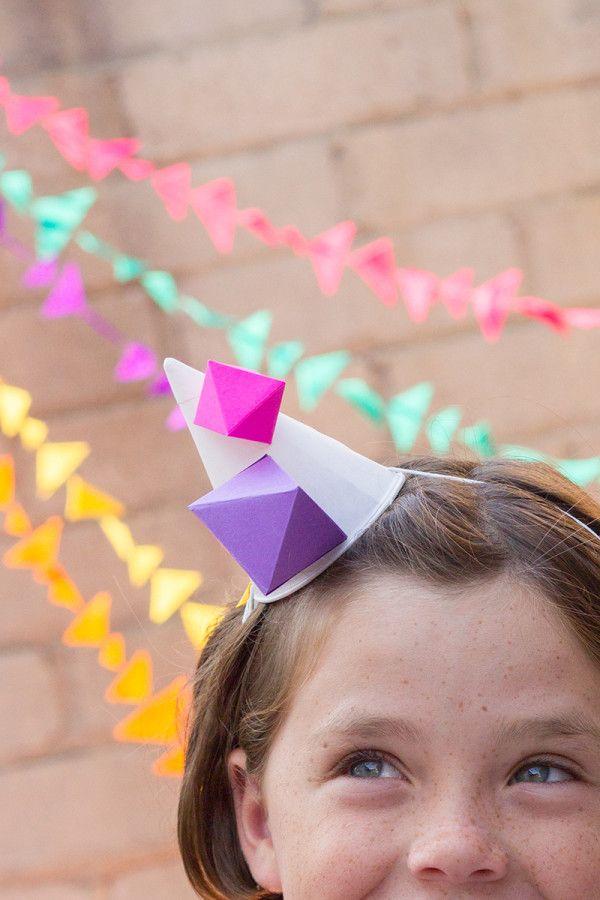 Geométrico Gorro de fiesta de bricolaje