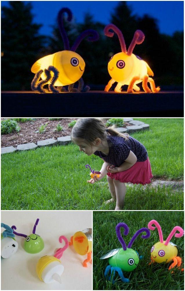 Artesanía Niños: Gire los huevos de plástico vacía en Light-Up Luciérnagas en muy poco tiempo ...