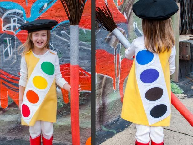 Fotografía - Traje de halloween para niños: caja de pinturas de acuarela