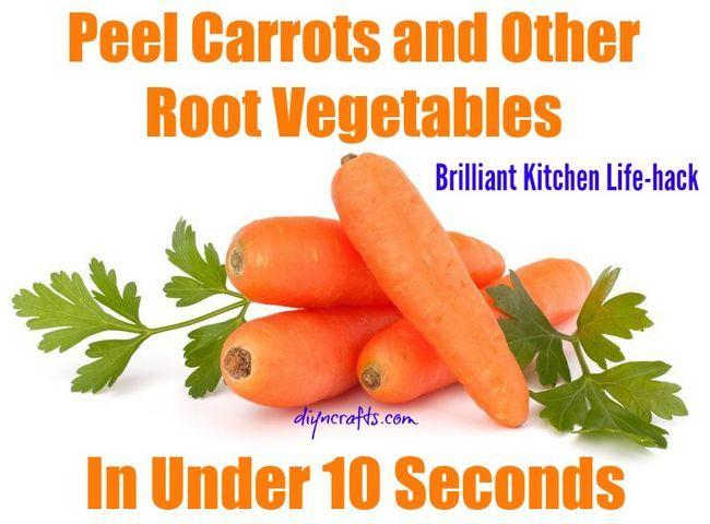 Cocina Vida-hack: Pelar las zanahorias y otros vegetales de raíz en menos de diez segundos - Brillante idea!