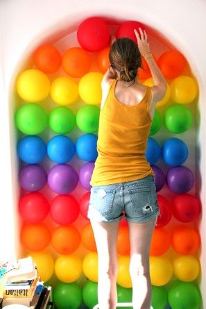 Cómo hacer una pared de globo