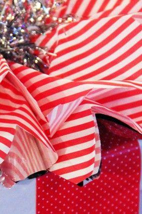 DIY-raya-polka-dot-papel de regalo
