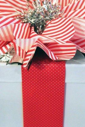 -vacaciones-regalo-wrap bricolaje rojo-blanco-plata-