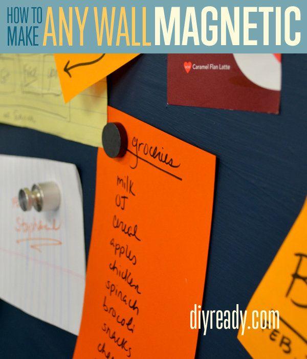Fotografía - Pintura de pared magnética - Cómo hacer una pared Imán