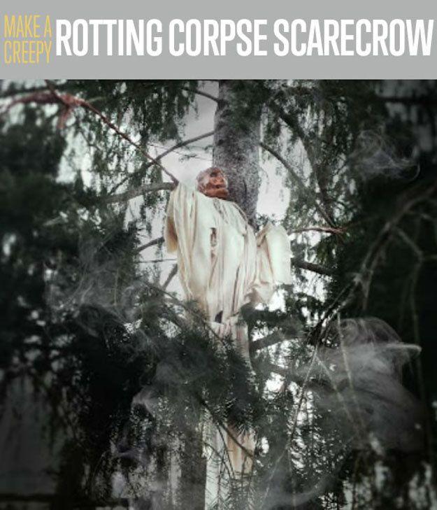 Hacer un espantapájaros espeluznante Rotting Corpse | Al aire libre decoraciones de Halloween