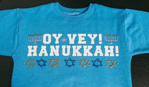 Cómo hacer un suéter de Jánuca feo, ver cómo en http://artesaniasdebricolaje.ru/diy-ugly-hanukkah-sweater