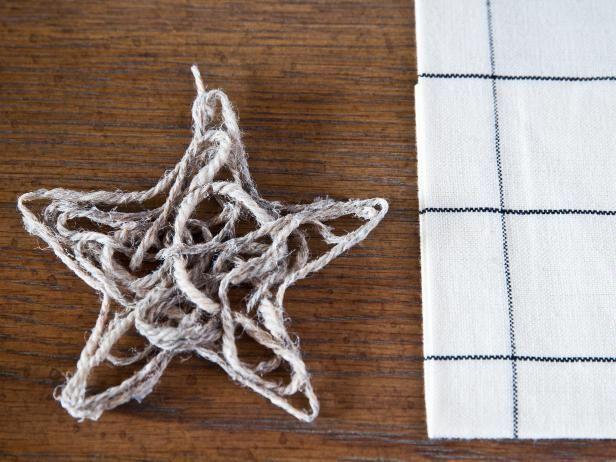 Fotografía - Hacer scandanavian ornamentos de la estrella de hilo navidad