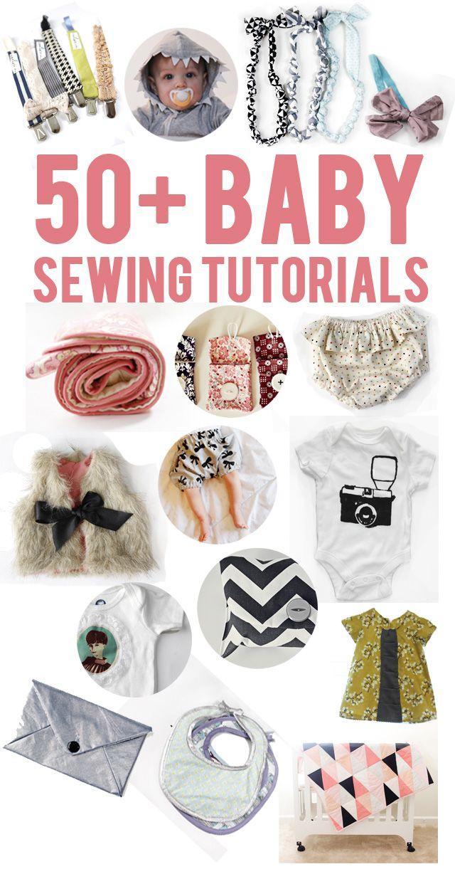 Haga su propia ropa de bebé con estos más de 50 Tutoriales de costura para bebés