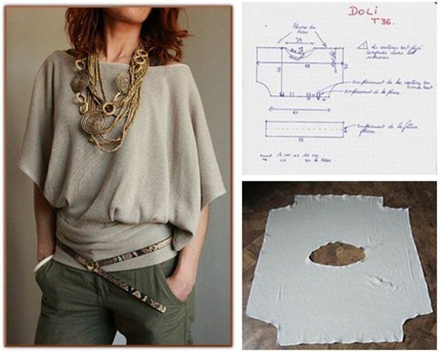Hot DIY Blusa Diseño | artesaniasdebricolaje.ru/diy-clothes-sewing-blouses-tutorial/