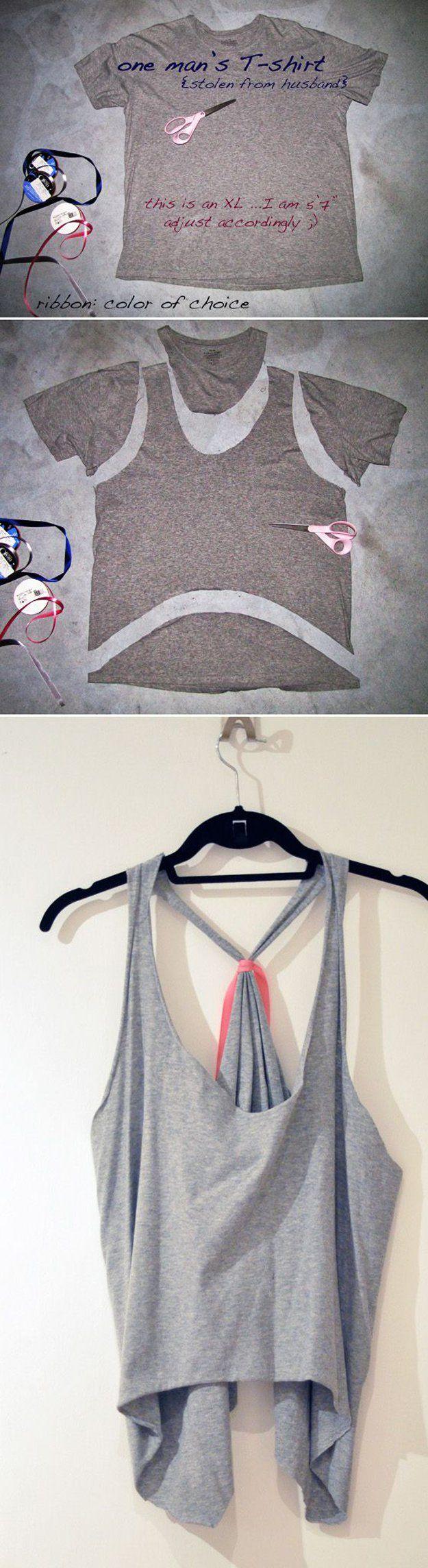 Fácil Recortable Tops para la Mujer | artesaniasdebricolaje.ru/diy-clothes-sewing-blouses-tutorial/