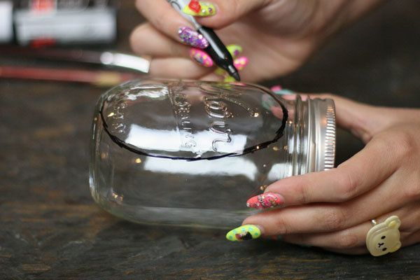 Oficios del tarro de albañil | Pizarra Luces de la vela