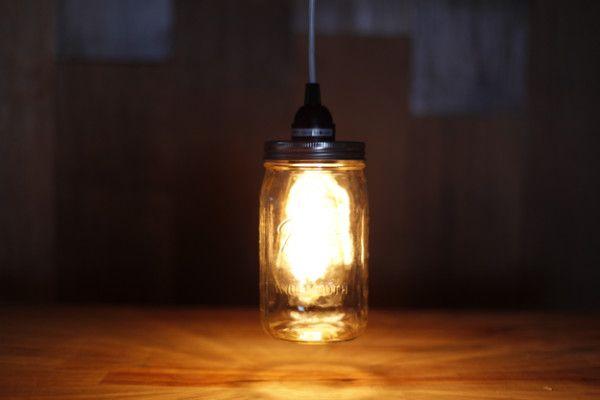 Oficios del tarro de albañil | Iluminación Colgante de la vendimia