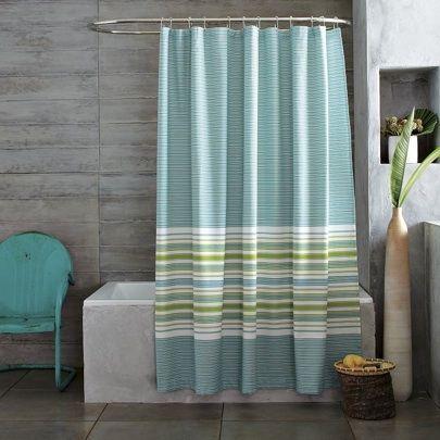 West Elm gradiated raya cortina de ducha