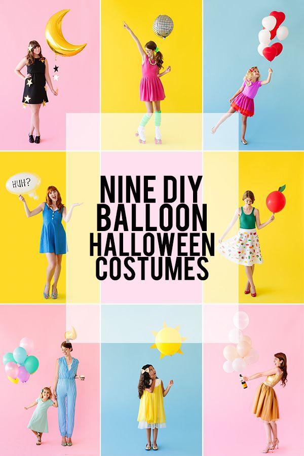 Nueve de bricolaje Disfraces de Halloween Globo