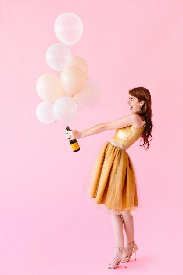 DIY Champagne disfraz de Halloween