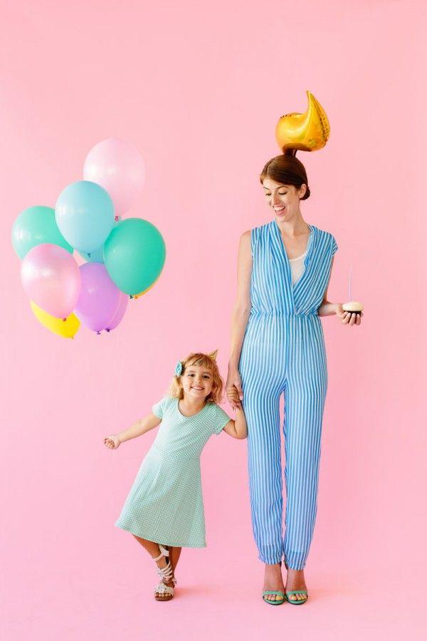 DIY de cumpleaños de la muchacha y la vela del cumpleaños Disfraces