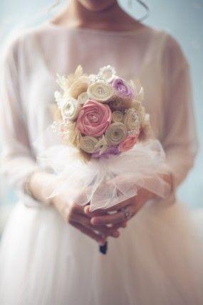 DIY-tejido de flores bouquet