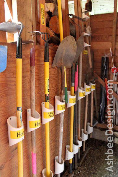 Organización DIY - Hacer Herramienta para el jardín organizadores con PVC Pipe