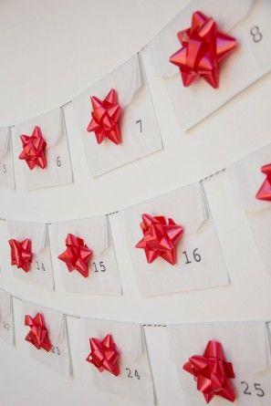 Bricolaje Calendario de Adviento Ideas