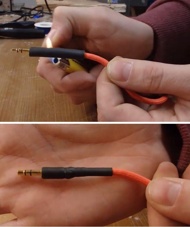 Baratos formas de decorar Auriculares con Paracord | http://artesaniasdebricolaje.ru/paracord-diy-headphones/