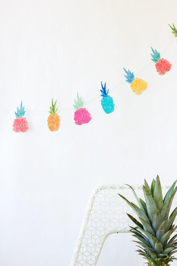 DIY Piña Garland y para imprimir gratis