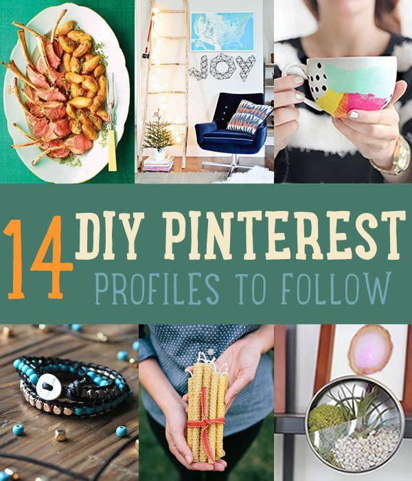 Proyectos de bricolaje, consejos y tutoriales | Mejores sitios web de bricolaje de bricolaje Listo en http://artesaniasdebricolaje.ru/pinterest-diy-profiles-to-start-following