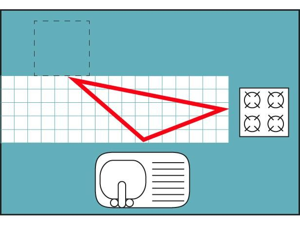 T-Shaped Diagrama Cocina